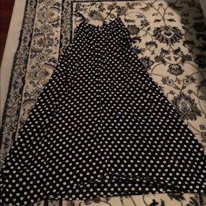 Polka dot maxi dress.